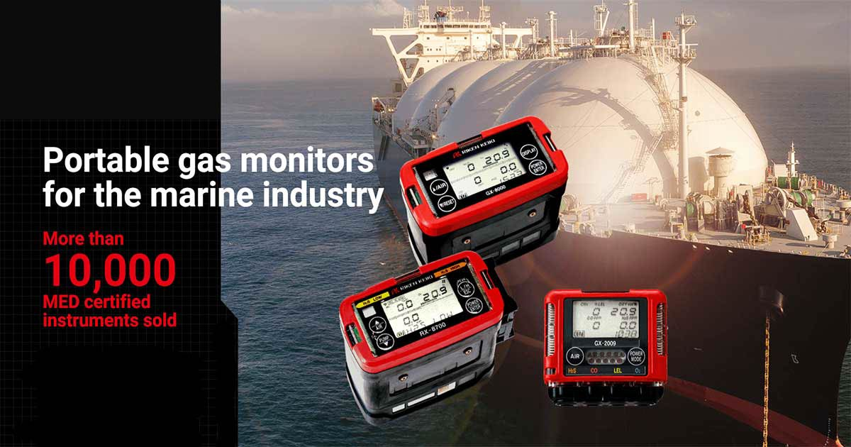 Gas detectors for marine industry